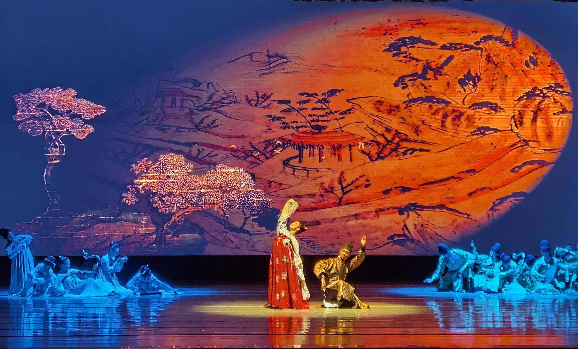 「和舞」以唐代韓休墓壁畫《樂舞圖》為原型創作而來。(受訪者供圖)