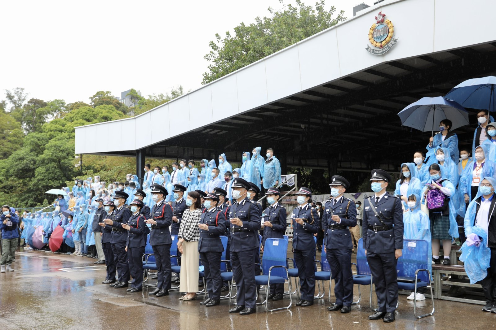 會操表演下午繼續進行,警務處處長鄧炳強出席。(點新聞記者李斯哲攝)