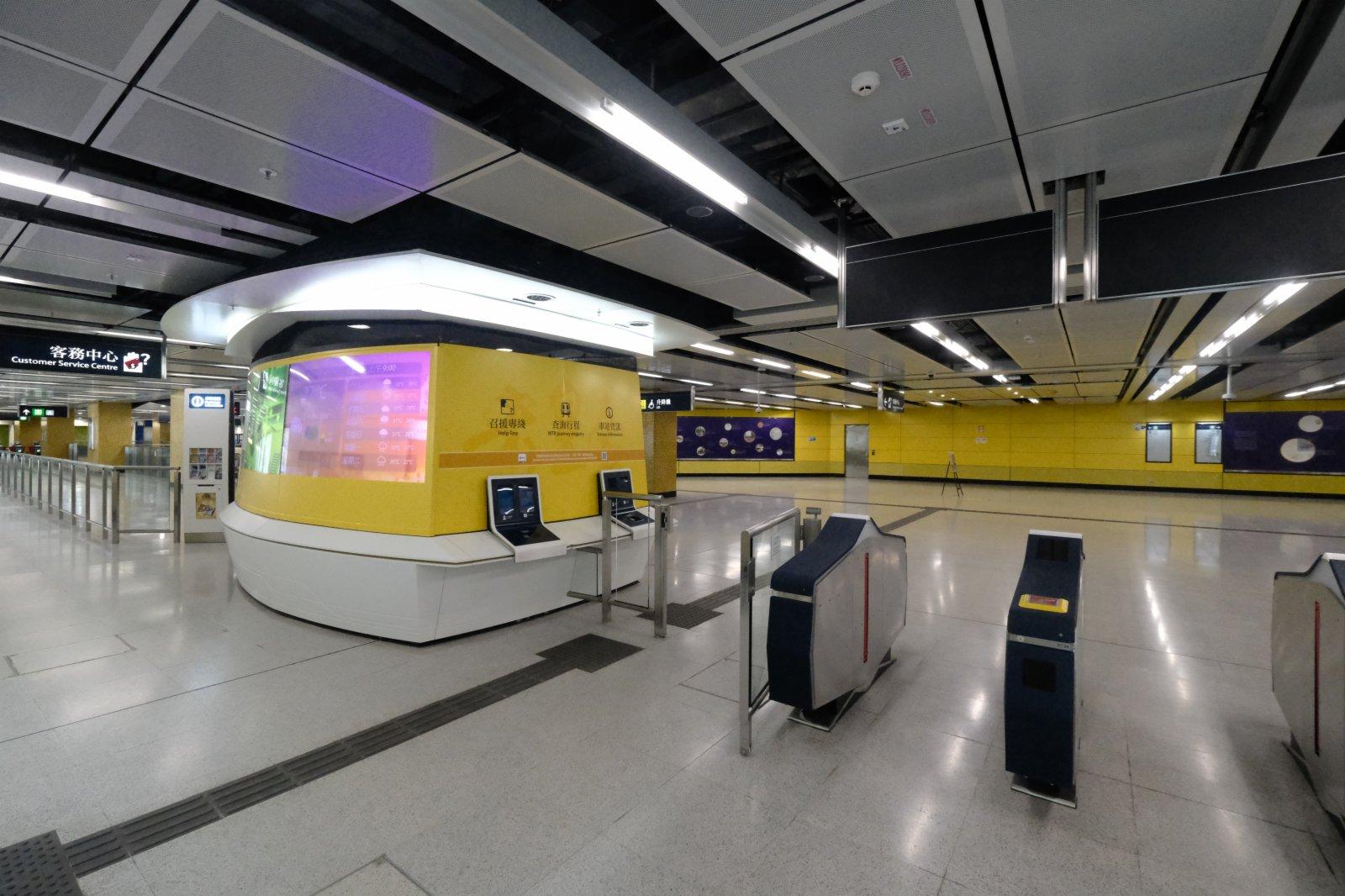 宋皇臺站在建造期間發現大量文物,車站設計揉合考古元素。(香港文匯報陳大文攝)