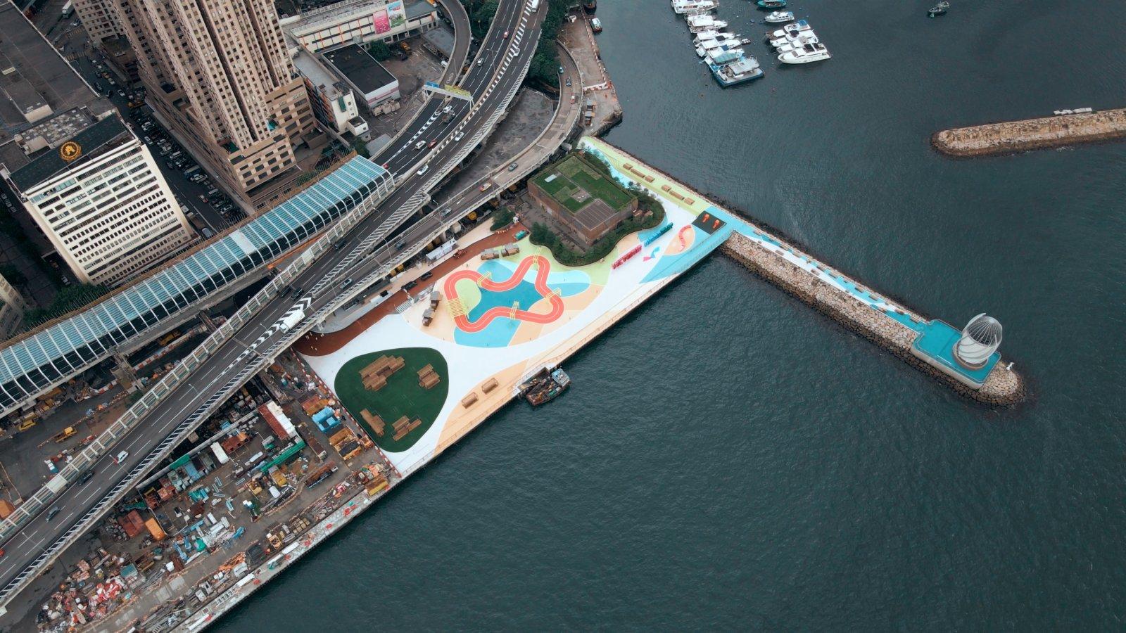 「東岸公園主題區(第一期)」將於周六正式開放。(政府新聞處)