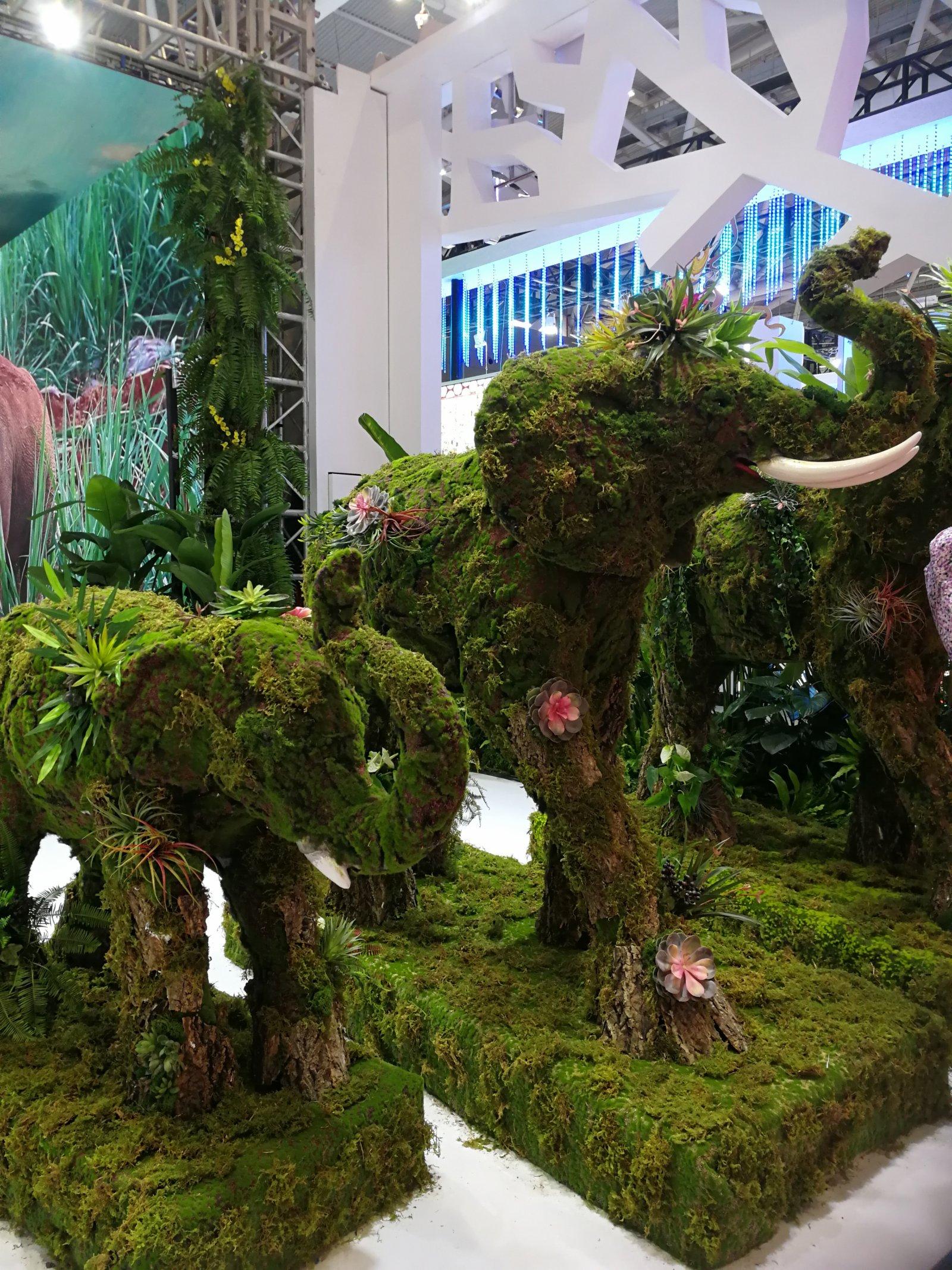 雲南把「大象」帶到了文博會現場(記者毛麗娟)