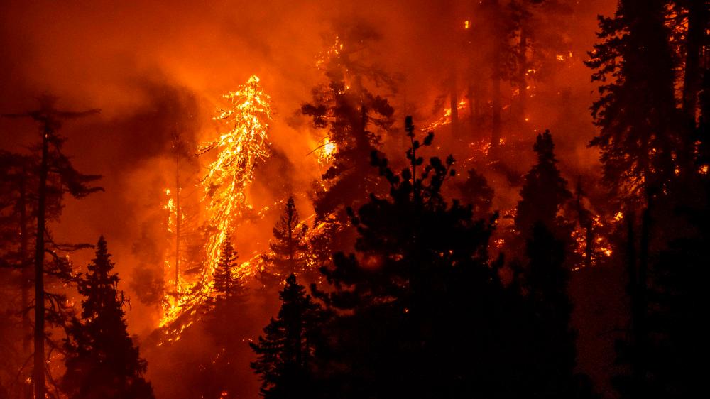美國加州山火持續肆虐