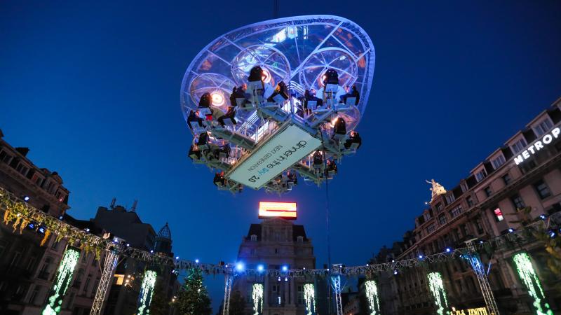 「空中餐廳」現身布魯塞爾