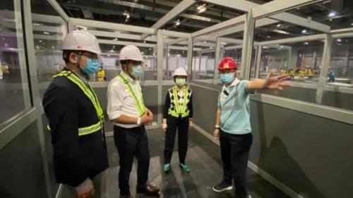 發展局:臨時醫院項目交內地團隊作業 數周內將完工