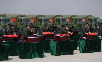 第七批在韓中國人民志願軍烈士遺骸回國