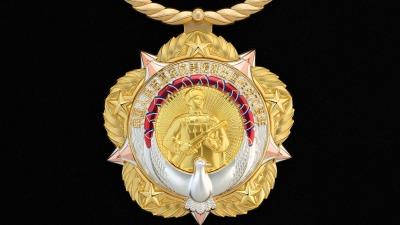 中央頒發「中國人民志願軍抗美援朝出國作戰70周年」紀念章
