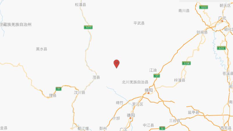 四川綿陽北川縣再發生4.7級地震