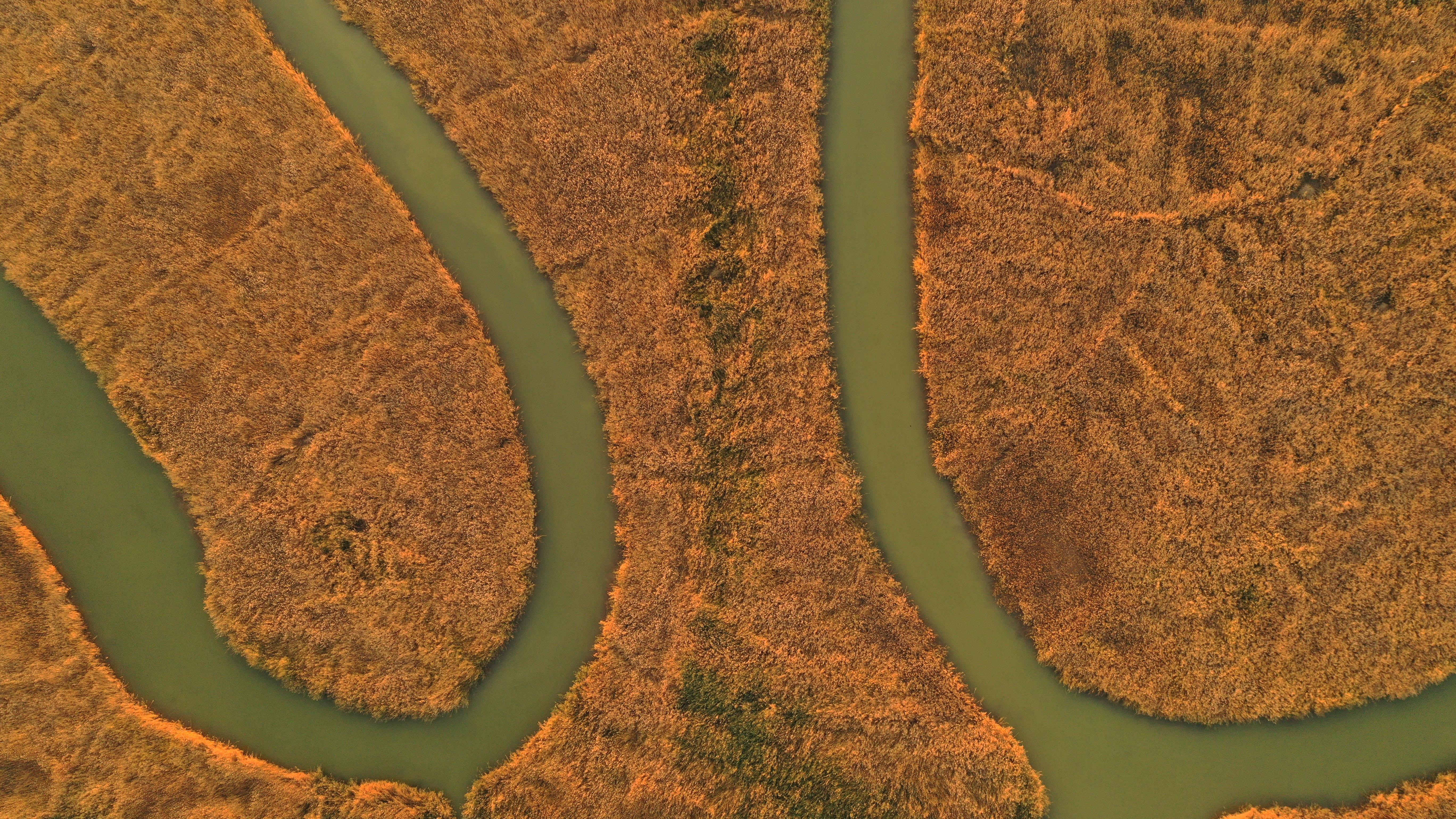 這是10月18日在寧夏沙湖景區拍攝的夕陽下的彩虹橋。金秋十月,位於寧夏石嘴山市平羅縣的沙湖景區秋色浸染,葦蕩金黃、候鳥翔集,構成一幅美麗的塞上江南秋景圖。(新華社)