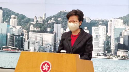 林鄭月娥:香港要積極融入國家「雙循環」發展新格局
