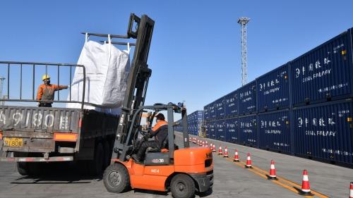 寧夏第200列國際貨運班列啟程