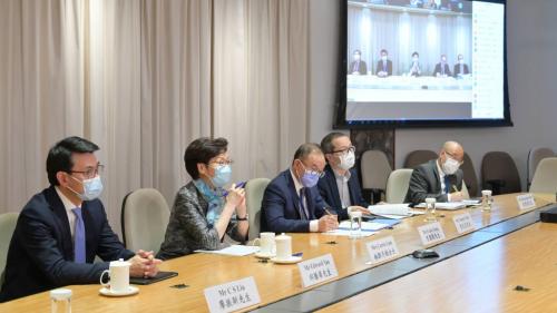 林鄭晤商會及業界代表 為上京商惠港措施做準備