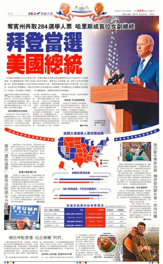拜登當選美國總統