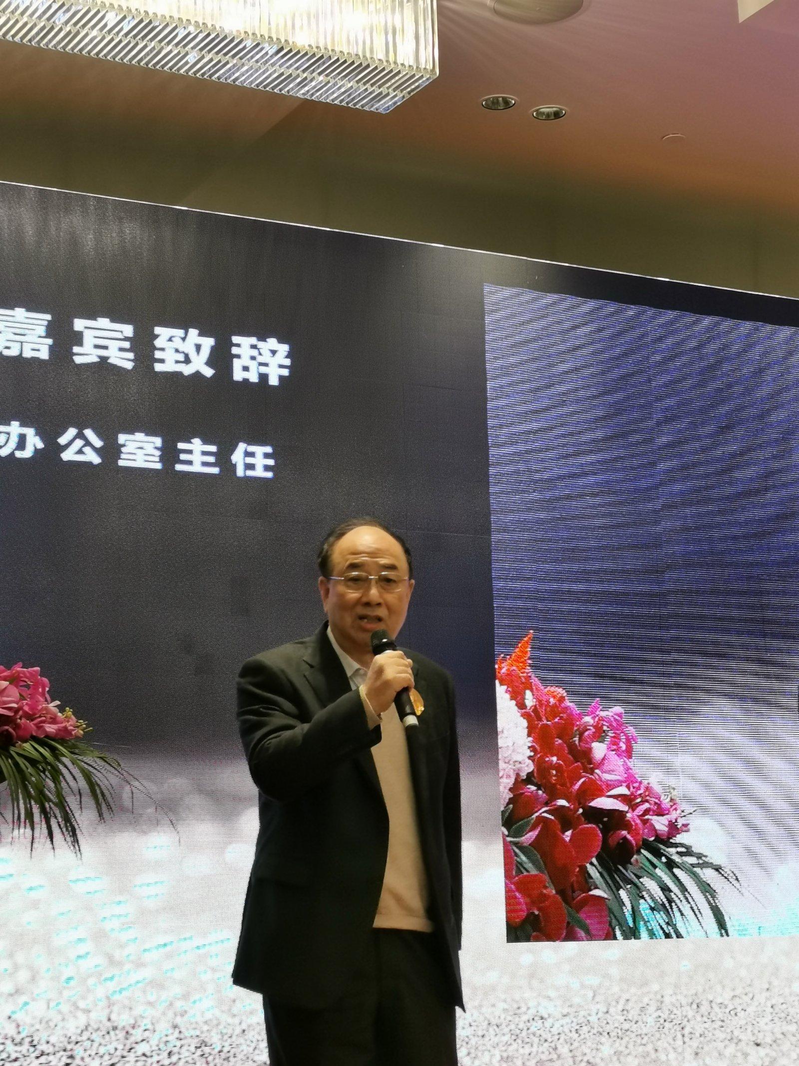 趙啟正為美術館揭幕,並勉勵藝術家、評論家共同努力,講好中國故事。記者張帆 攝