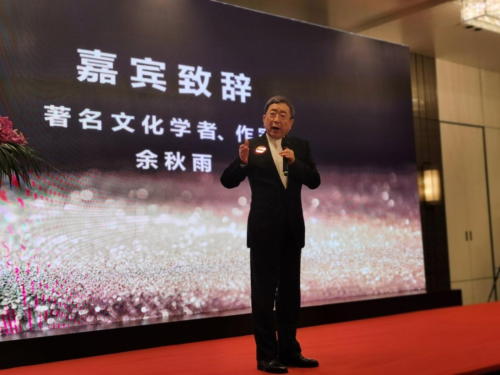 余秋雨認為,推動中國文化走出去,仍然任重道遠。記者張帆 攝