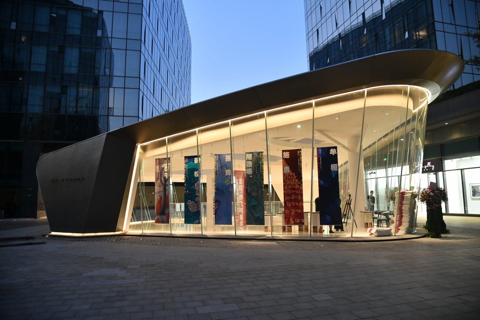 金臣·亦飛鳴美術館,致力於打造「無牆美術館」。記者張帆 攝