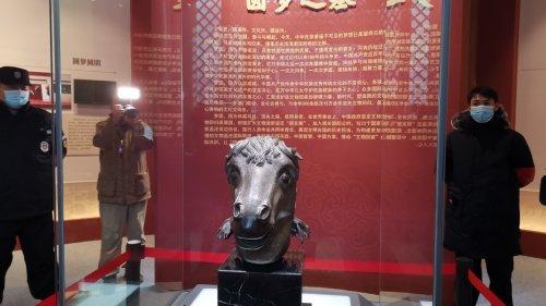 馬首銅像回歸圓明園