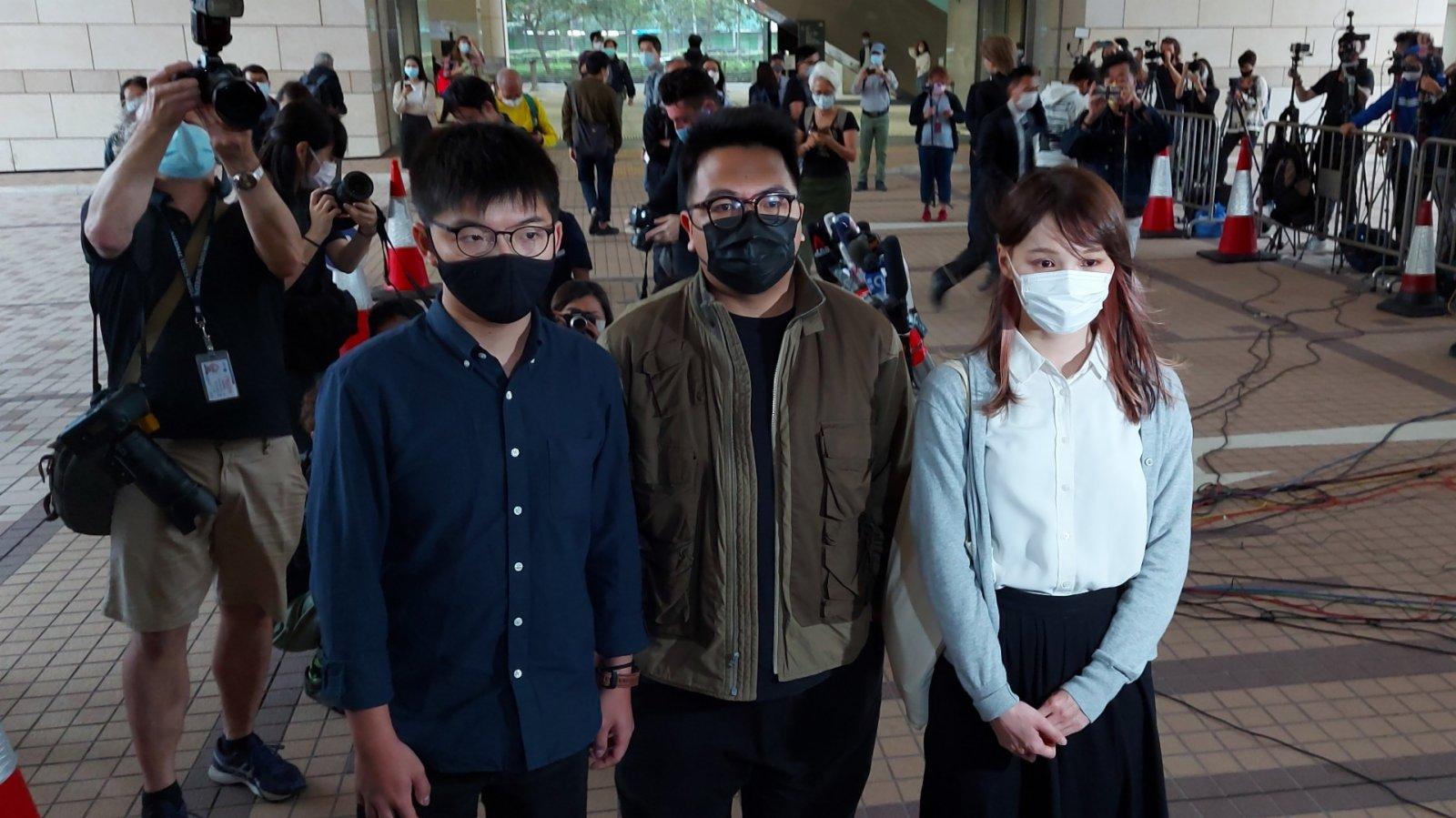 黃之鋒林朗彥周庭包圍警總案 分判囚7至13.5個月