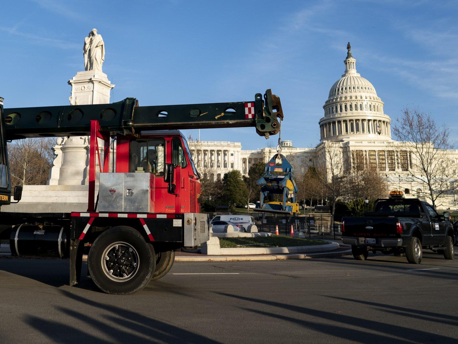 這是1月7日在美國首都華盛頓拍攝的國會大廈。