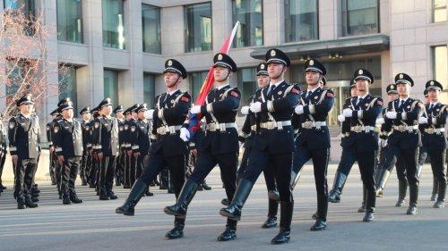 公安部舉行升警旗儀式 慶祝首個中國人民警察節