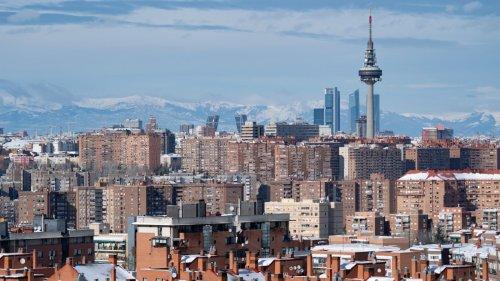 雪後馬德里