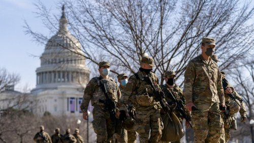 恍如戰場! 國民警衛隊駐紮美國國會