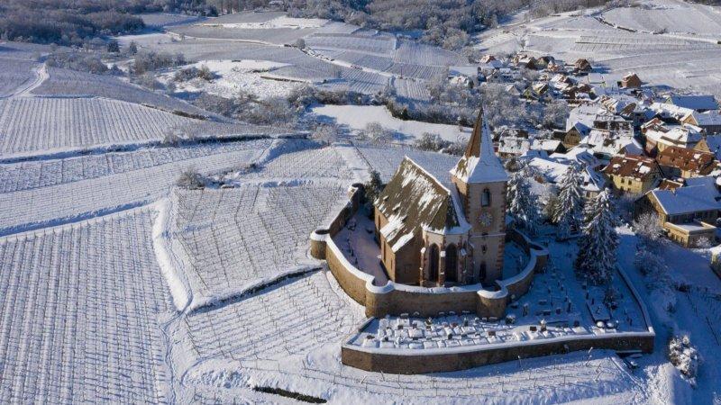 法國:大雪之後 美若童話仙境