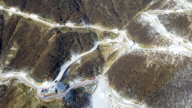 飛閱北京2022年冬奧會延慶賽區