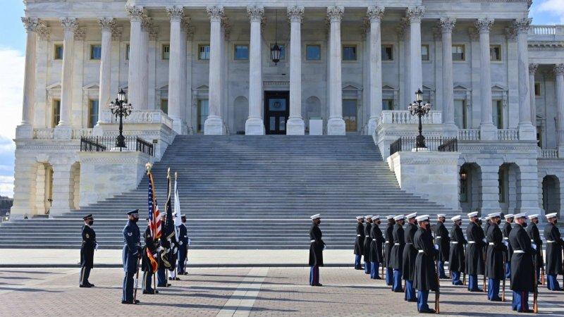 拜登宣誓就職前的美國國會