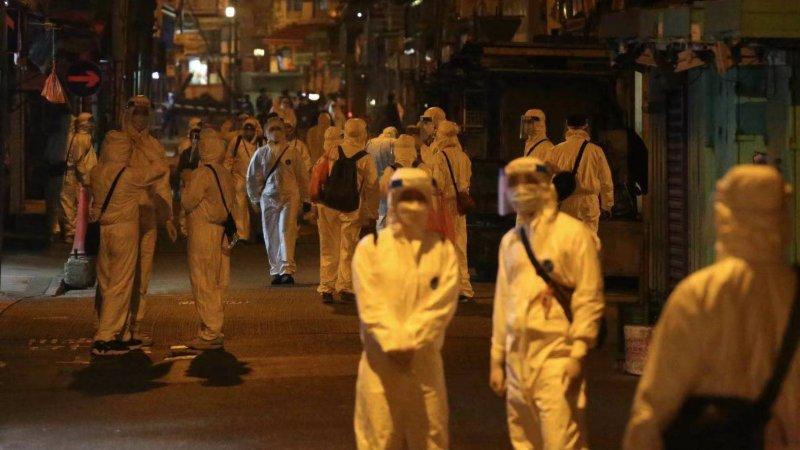 政府封鎖佐敦四街 全區48小時內強制檢測