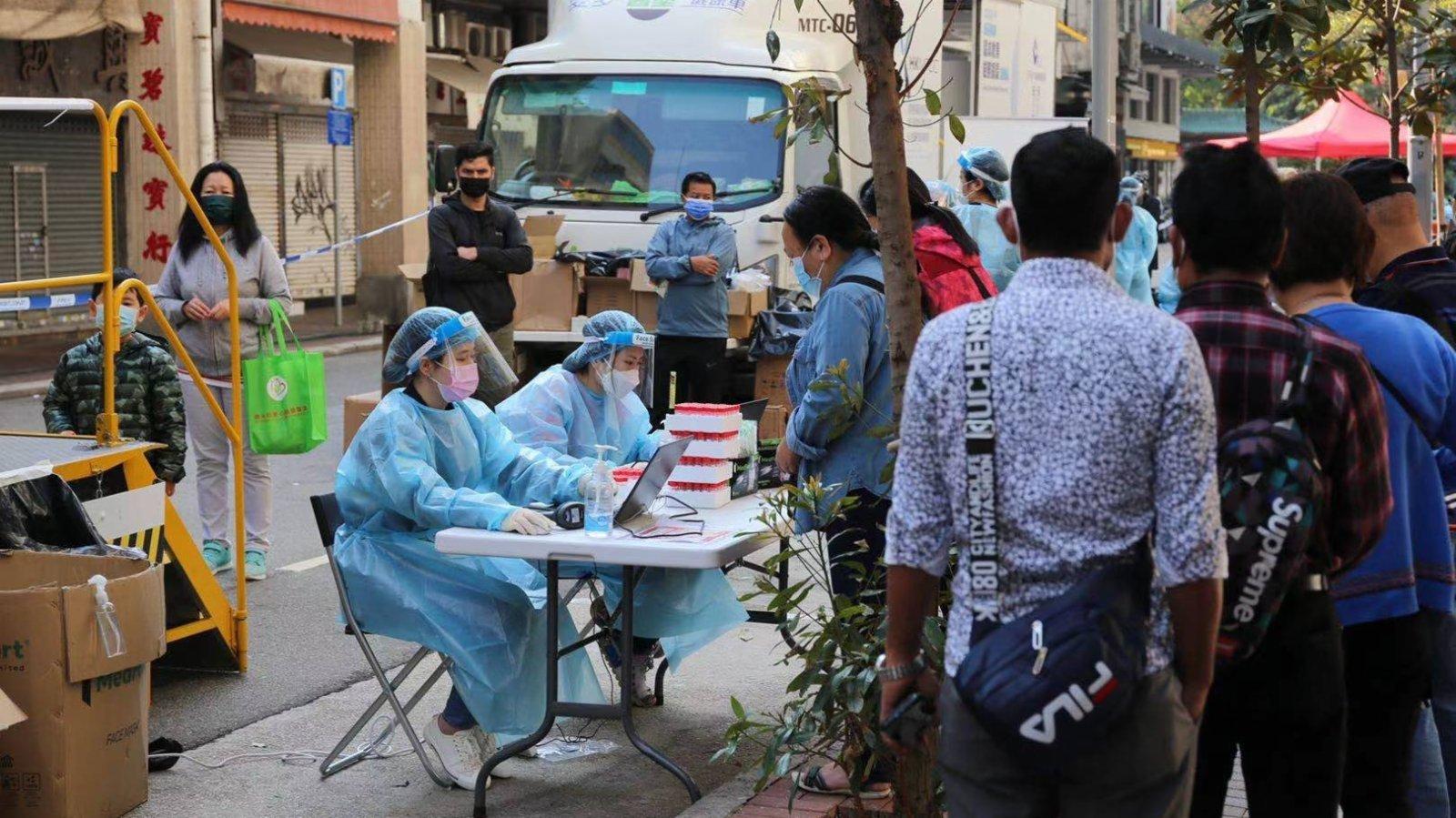 佐敦封區強檢 政府為市民派發生活及抗疫物資
