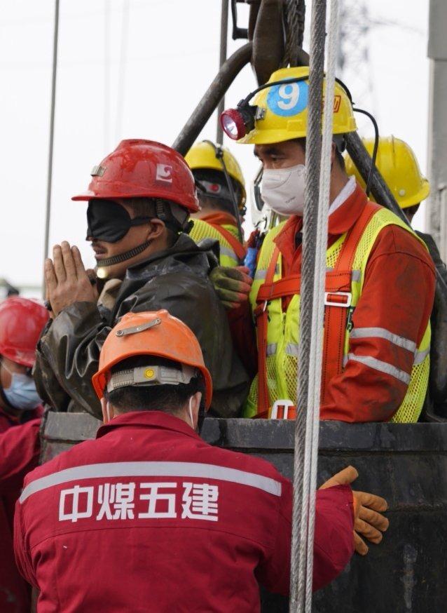 救援人員講述笏山金礦被困人員營救過程