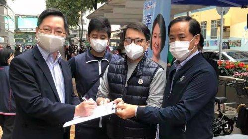 創科局局長上街支持「落實愛國者治港」簽名行動
