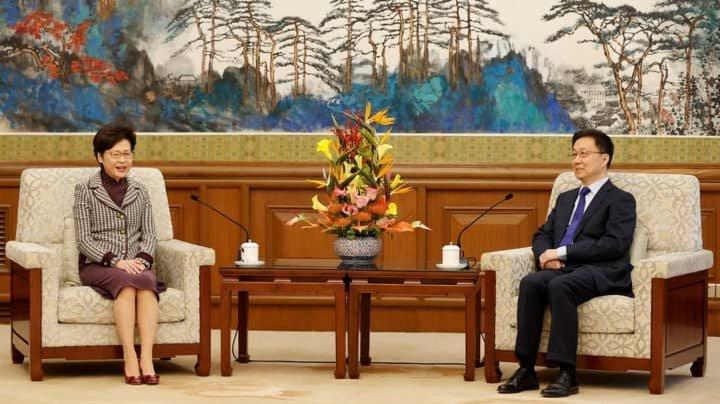 韓正晤港澳特首 冀香港做好立法工作完善選舉制度