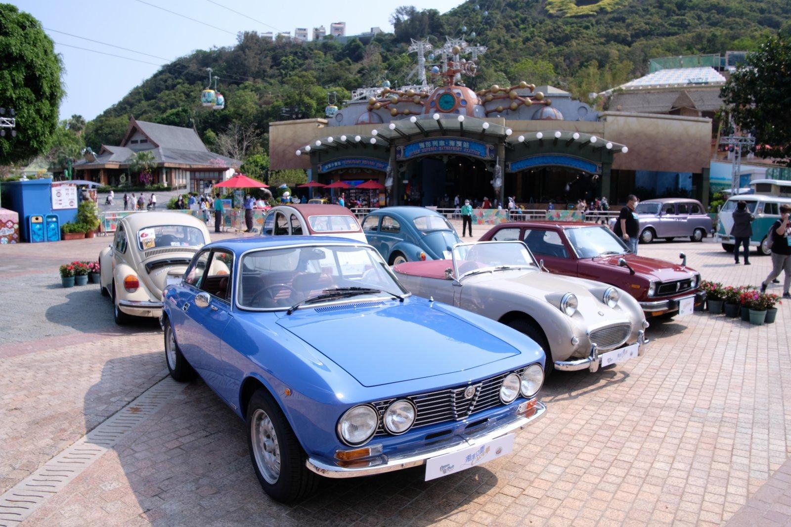 海濱樂園廣場將有超過15架老爺車列隊,當中包括多架特色迷你車、古董跑車及越野車等。