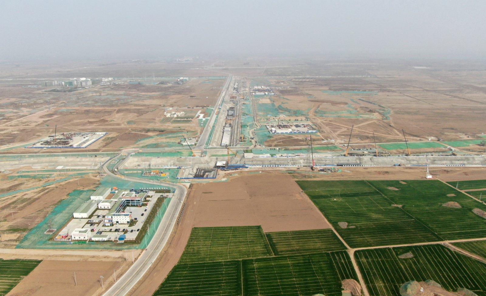 圖為3月31日,航拍雄安新區啟動區建設現場。 中新社