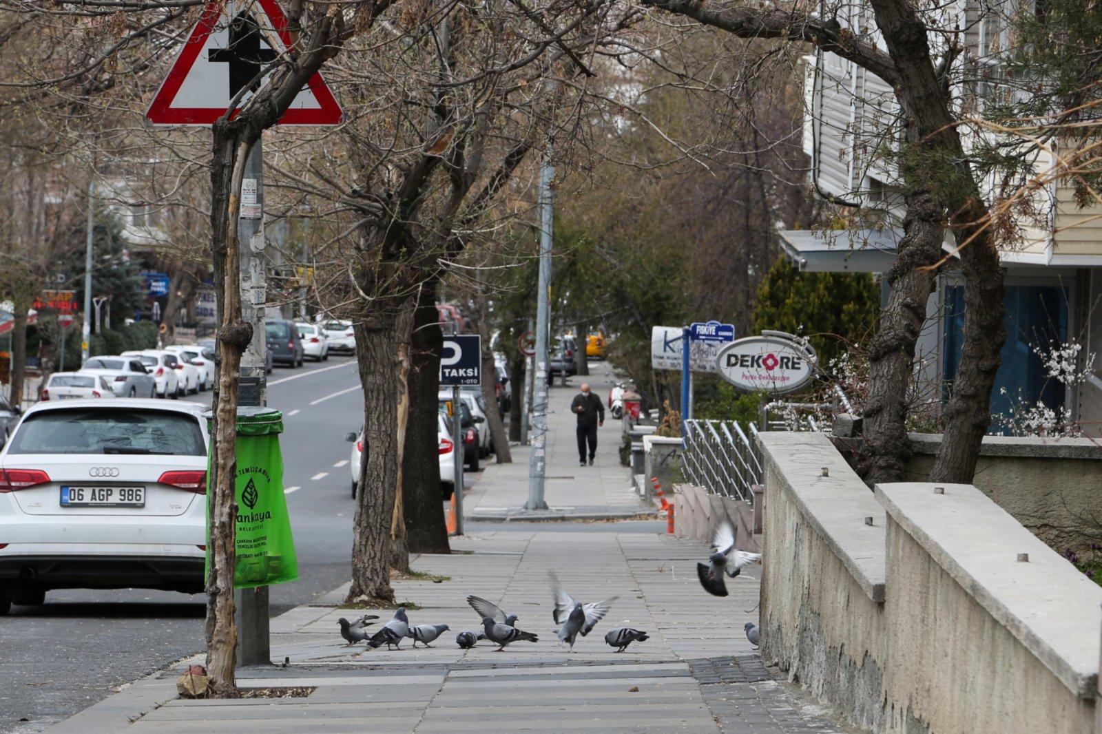 4月10日,「禁足令」下的土耳其安卡拉街上行人稀少。(新華社)