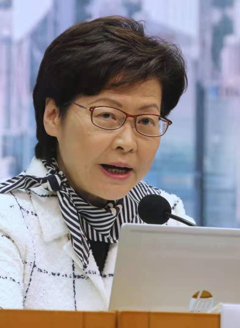林鄭指香港第四波疫情明顯受控