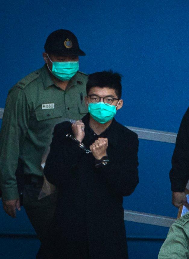 亂港分子黃之鋒被判入獄4個月