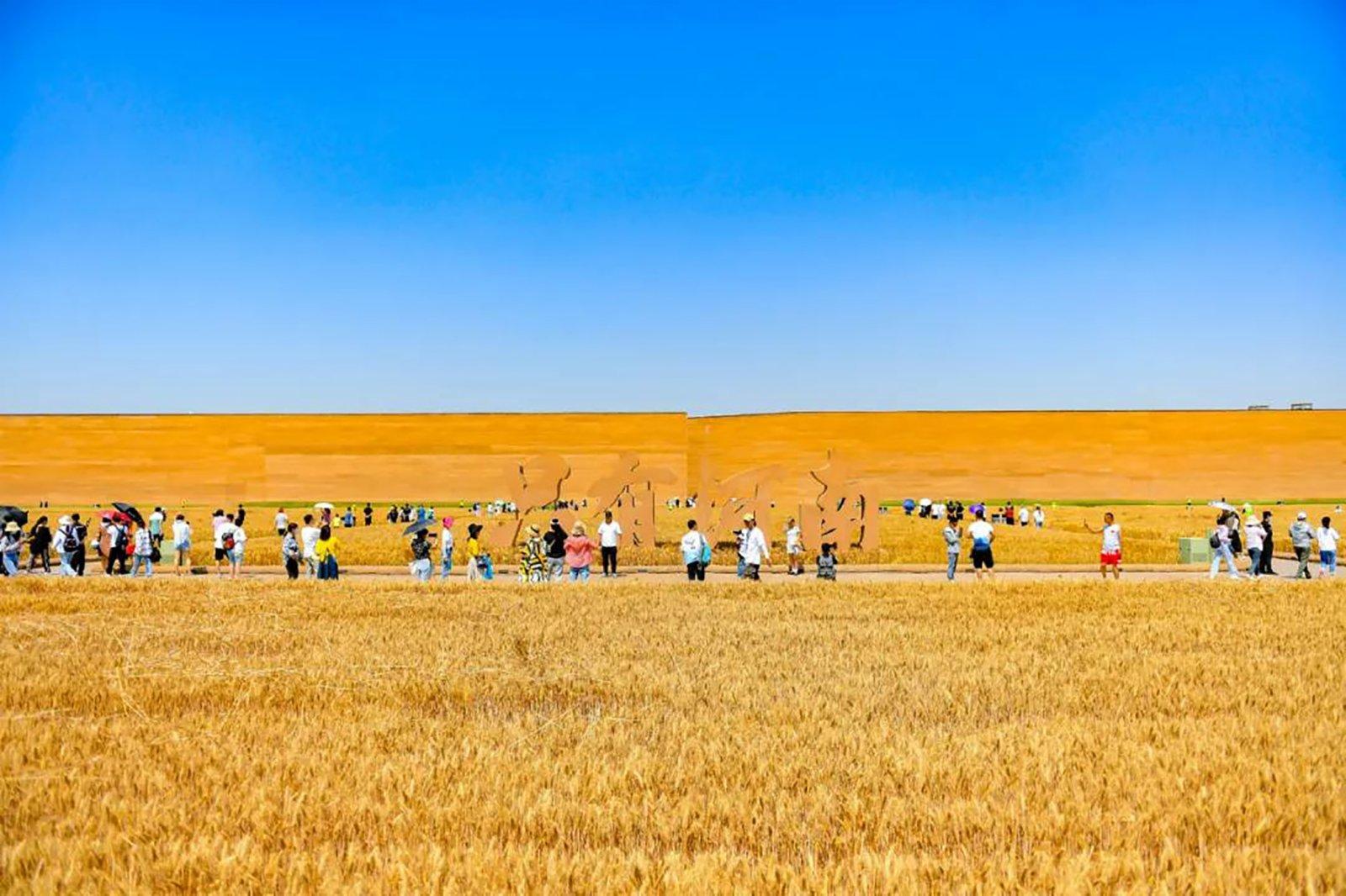 328米見方的巨型城廓以黃土和麥子為主要設計語彙。