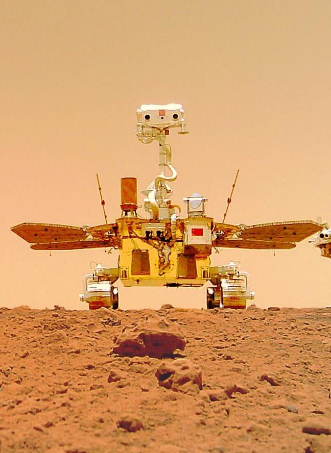 天問一號着陸火星首批科學影像圖公布