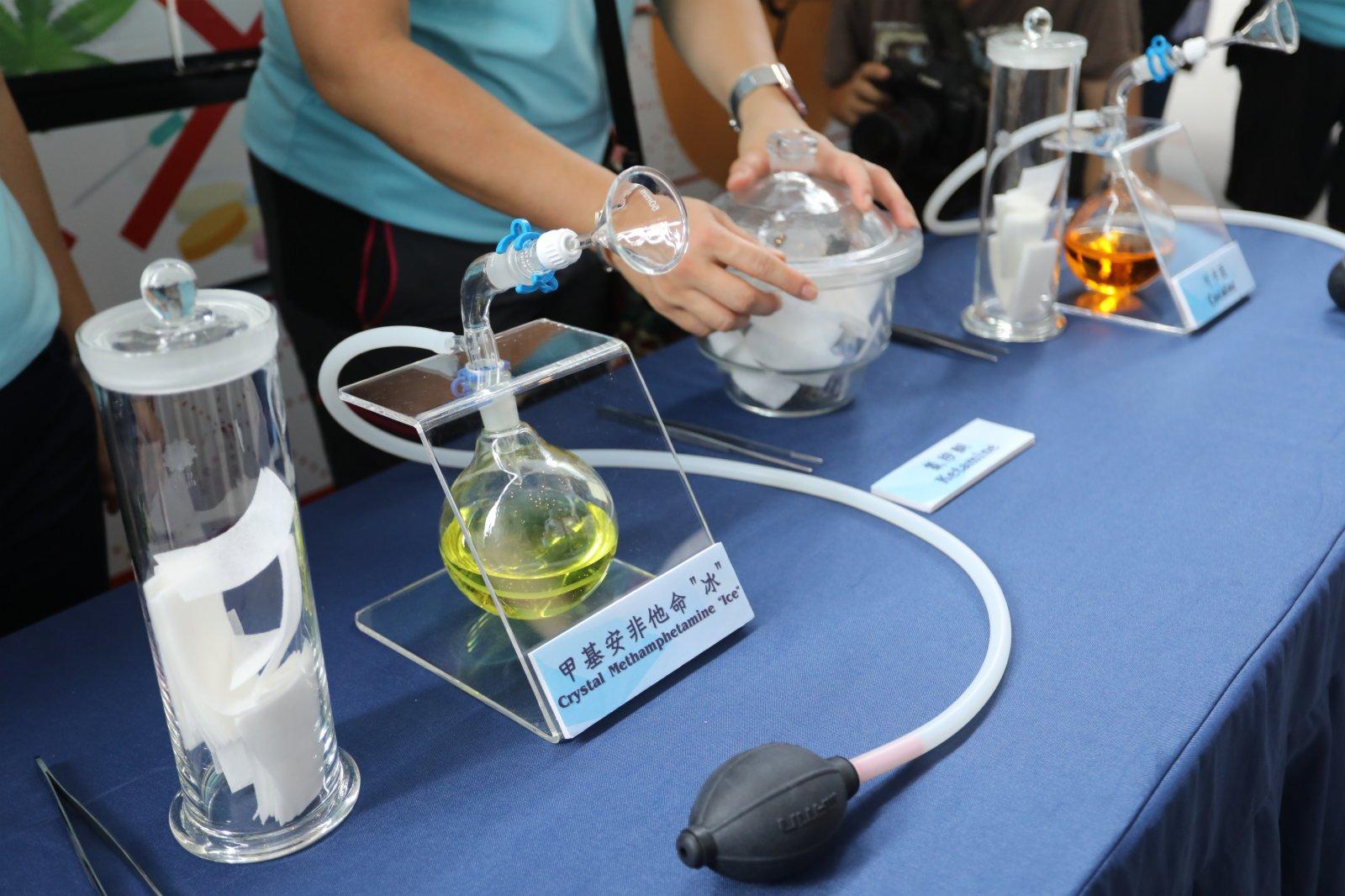 仿製毒品氣味體驗(大公文匯全媒體記者李斯哲攝)