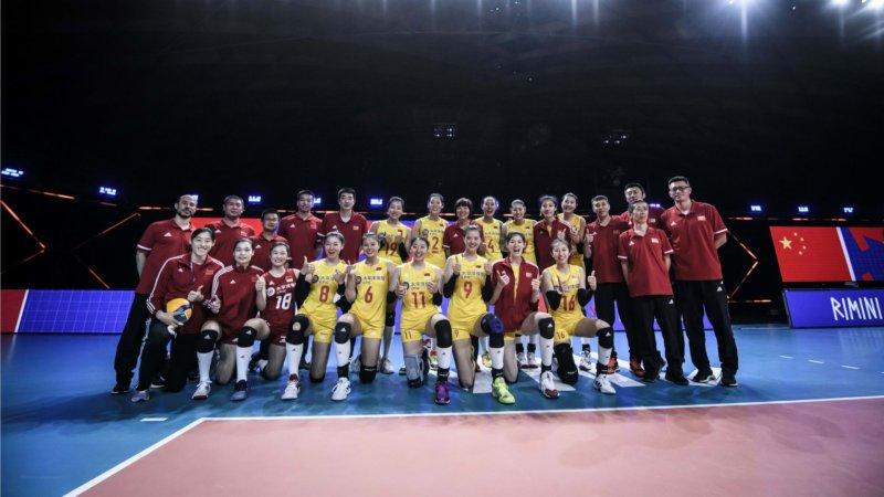排球——世界女排聯賽:中國隊戰勝美國隊
