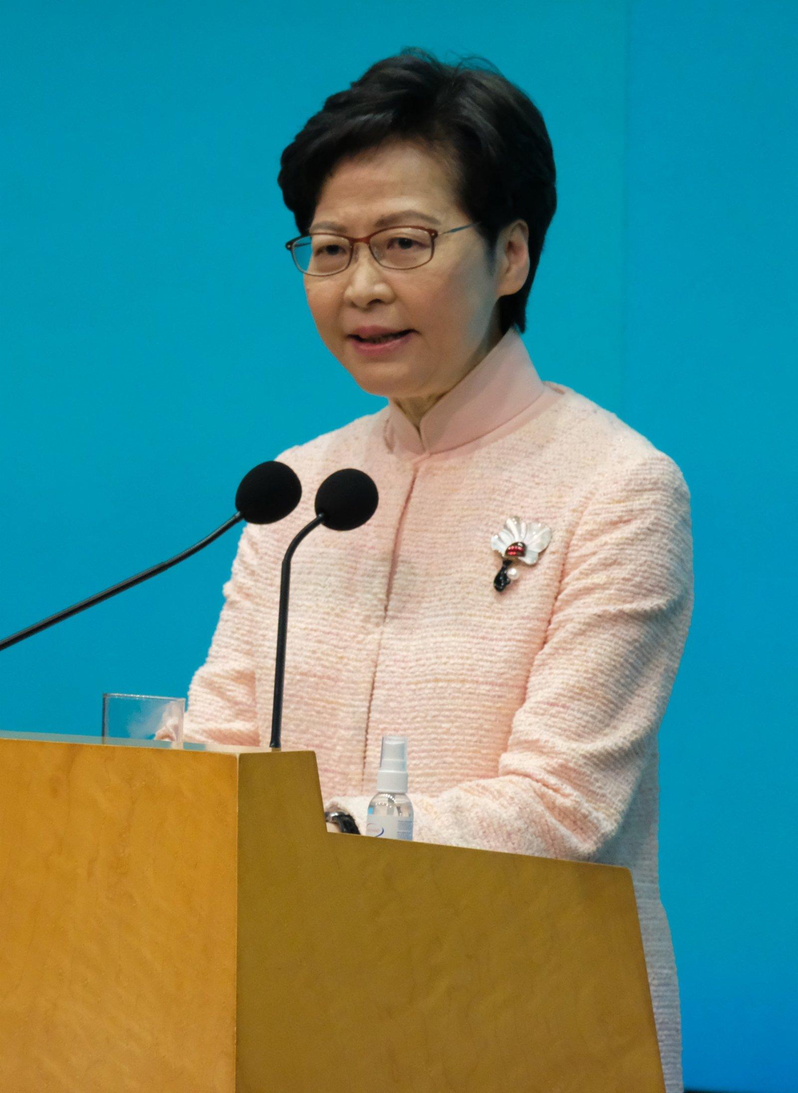 林鄭:將繼續招攬國際同內地人才到港發展