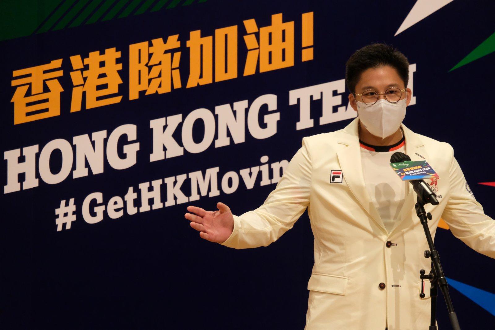 香港奧林匹克之友主席霍啟剛致辭。(大公文匯全媒體記者麥俊傑攝)