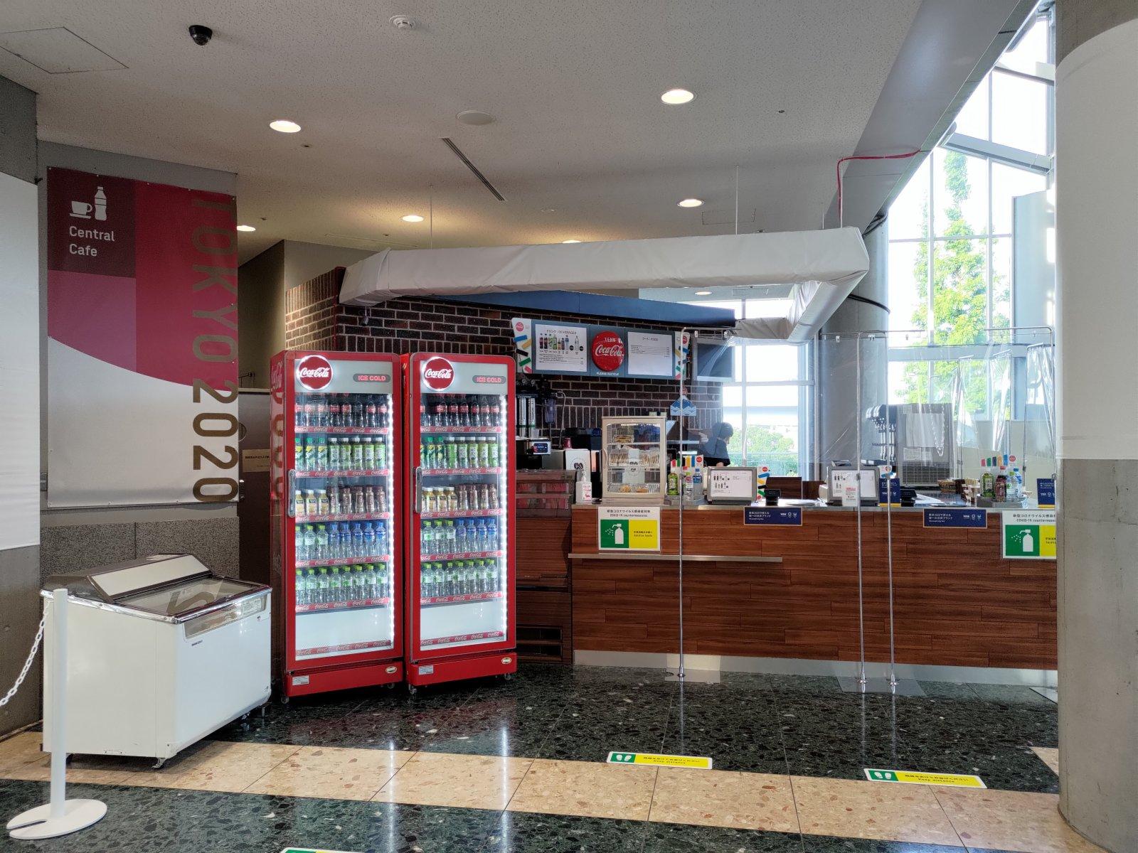 傳媒中心內有cafe。(大公報記者 張銳 攝)