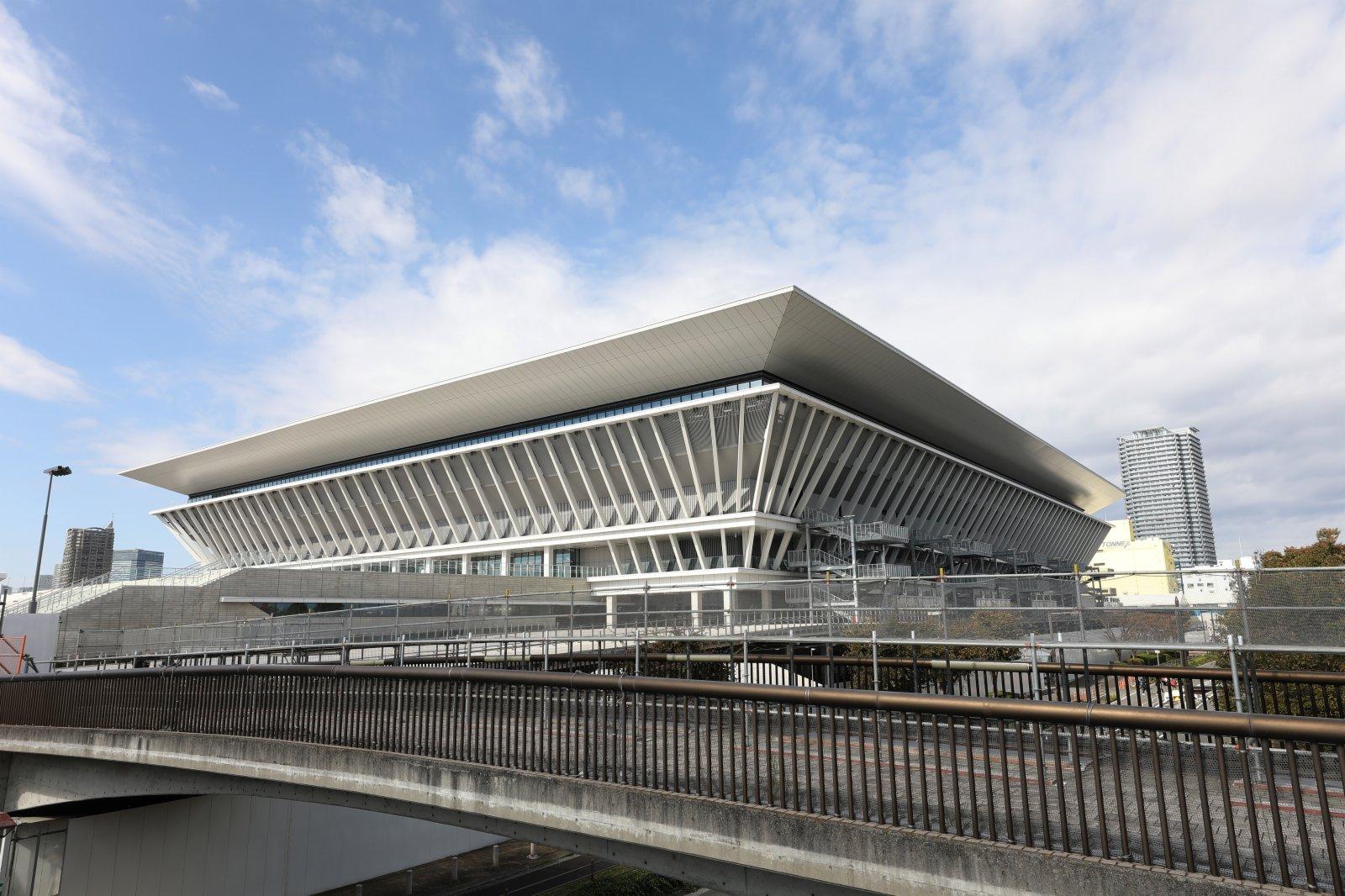 圖為東京奧運會水上運動中心外景。新華社