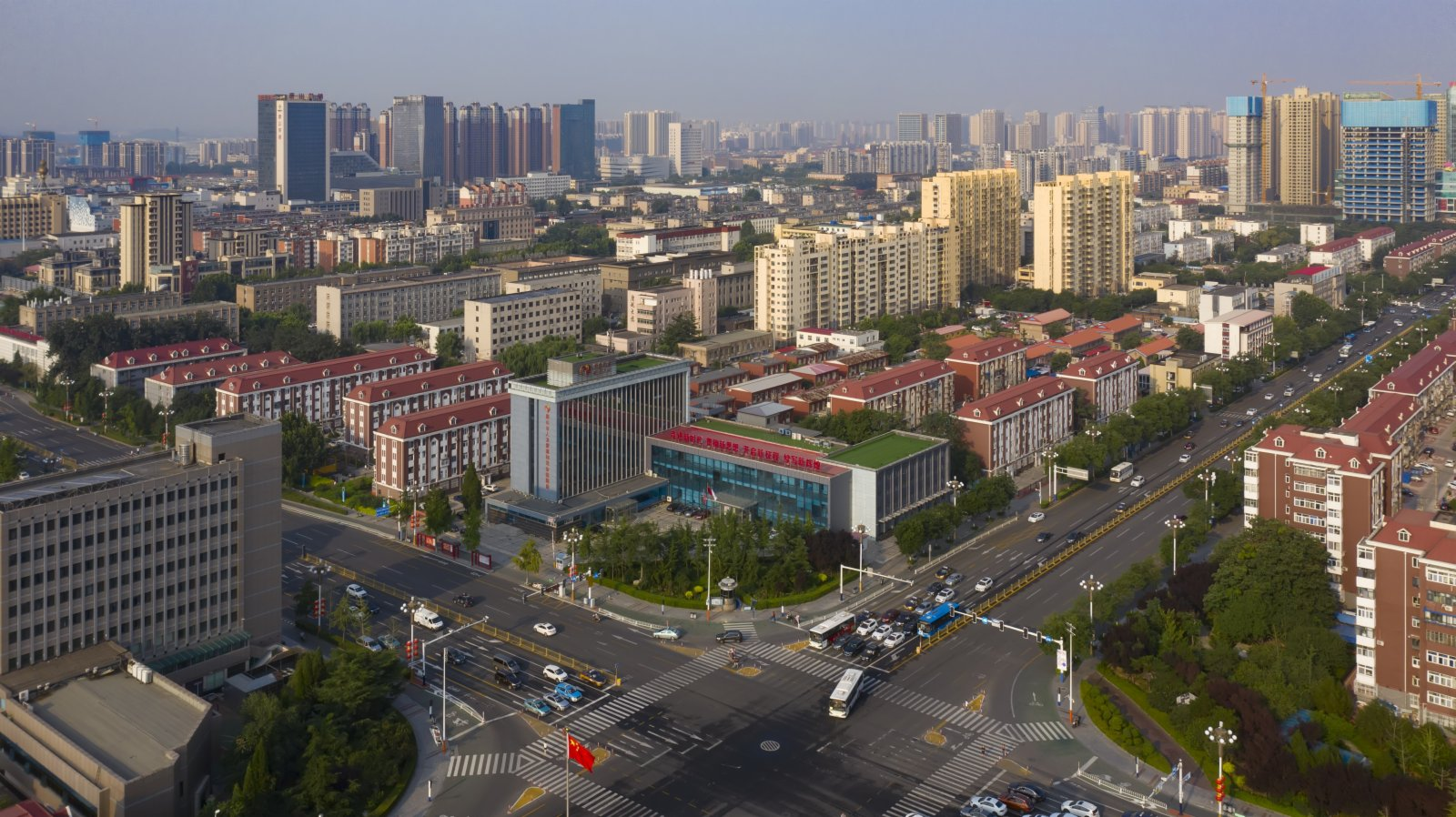唐山市區。 新華社