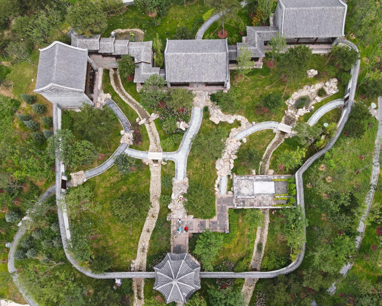 位於唐山市開平區的河北省第五屆園林博覽會會址景色。 新華社