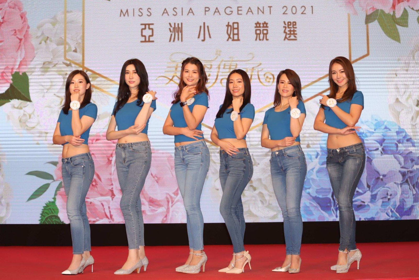 13號孫一丹、14號仇澤華、「2020年亞洲小」彭紫荊、15號陳琳琳、16號洪蓉蓉及17號梁欣娟(香港文匯報)