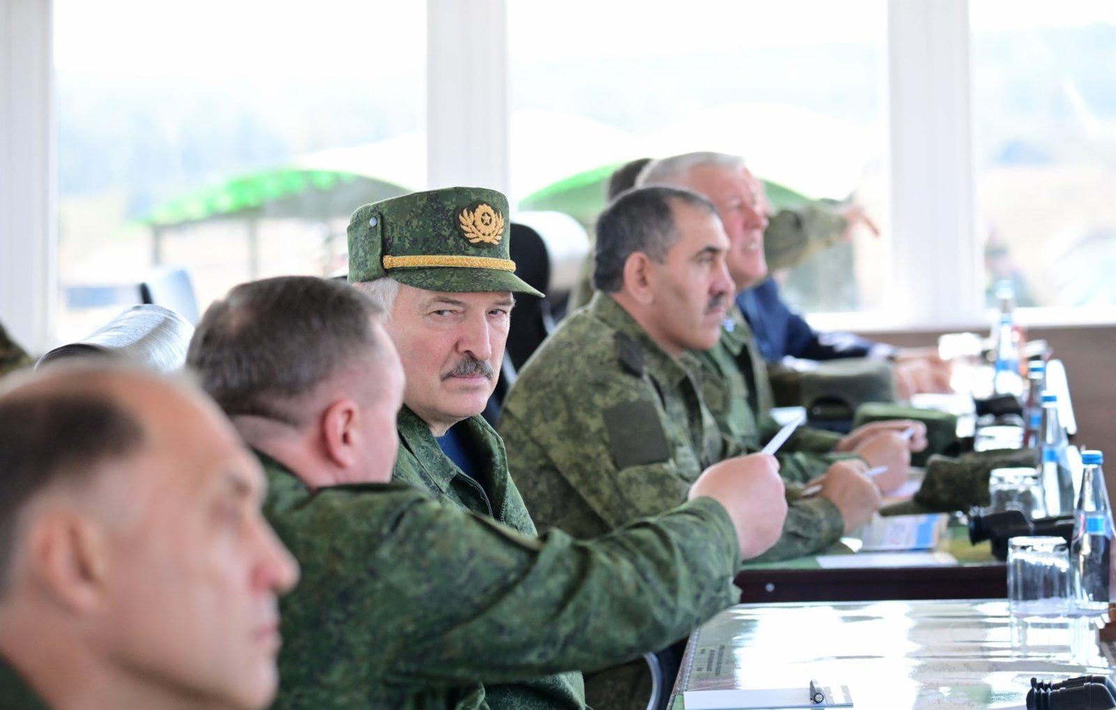 俄白「西部-2021」聯合戰略演習現場。